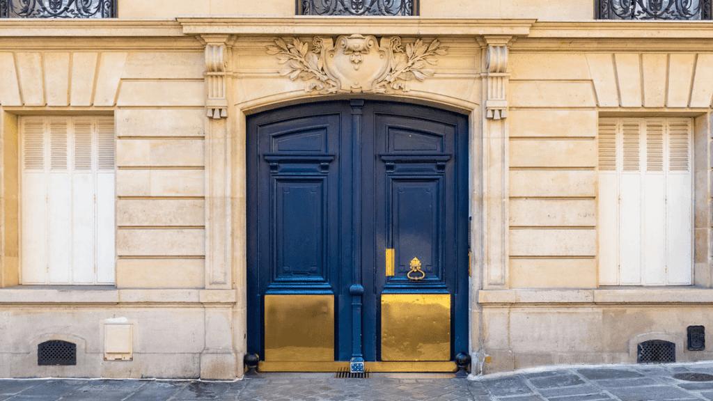 a door of an apartment in Paris
