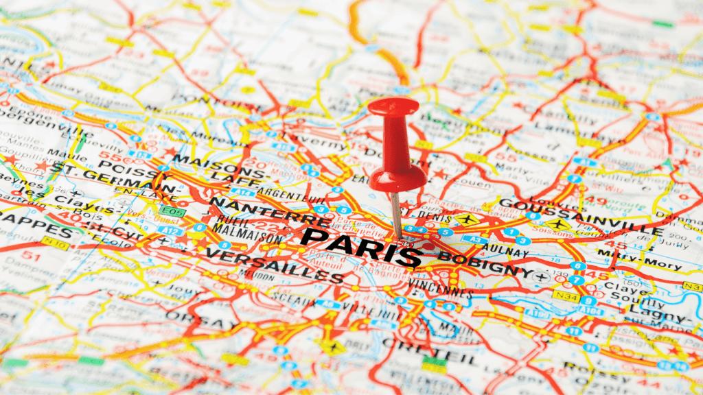 renting an apartment in Paris - map of Paris